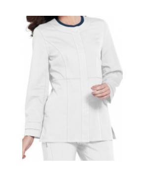 Urbane Ultimate Mindi snap-front scrub jacket - White