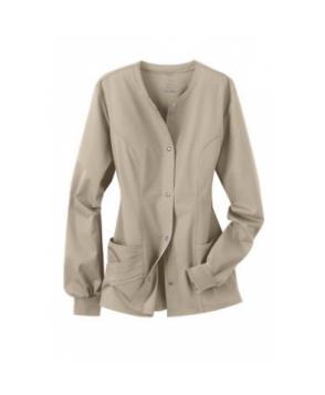 Cherokee Luxe Collection stretch scrub jacket - Khaki