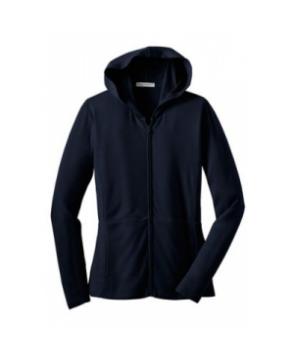 Ladies modern stretch full zip jacket - Navy