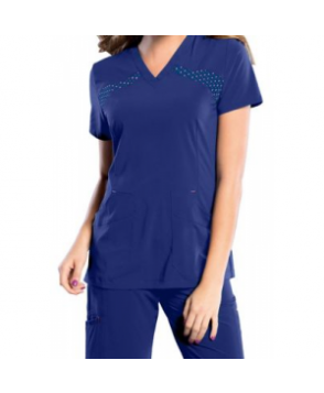 Smitten v-neck scrub top - Galaxy