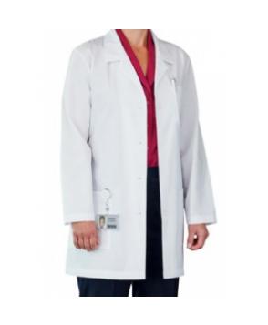 Meta 3-pocket medical lab coat - White