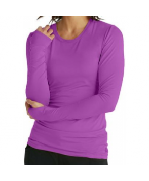 Infinity by Cherokee long sleeve knit underscrub tee with Certainty - Wild Orchid