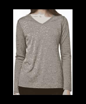 Carhartt v-neck long sleeve tee - Heather Grey