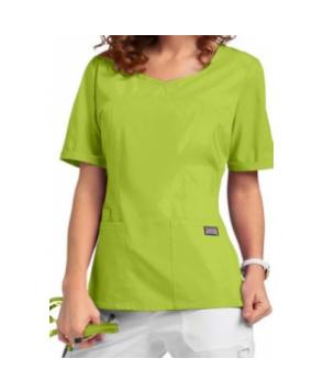 Cherokee Workwear princess seam scrub top - Citrus Green