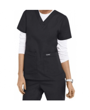Landau v-neck medical scrub top - Graphite