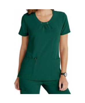 Dickies Xtreme Stretch scoop neck scrub top - Hunter