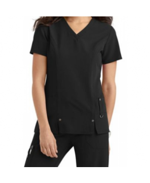 Dickies Xtreme Stretch v-neck scrub top - Black