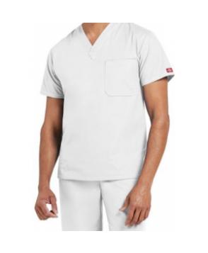 Dickies EDS Signature unisex -pocket v-neck scrub top - White