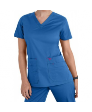 Med Couture Flex-It Knit Insert scrub top - Blueberry/Sangria