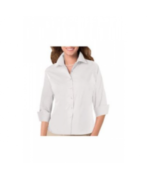 Blue Generation ladies 3/4 sleeve poplin shirt - White