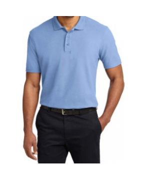 Port Authority stain resistant polo tee ight Blue
