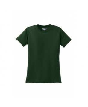 Ladies dry zone raglan accent t-shirt - Forest green