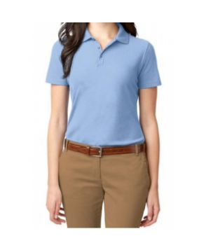 Port Authority ladies stain resistant polo tee ight Blue