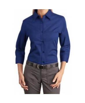 Port Authority Ladies 3/4-sleeve Easy Care shirt editerranean Blue