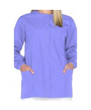 Natural Uniforms round neck scrub jacket - Ceil