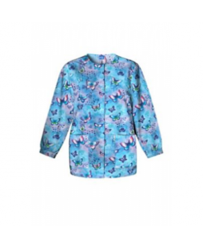 Cherokee Scrub HQ Fly by Night print scrub jacket - Fly By Night