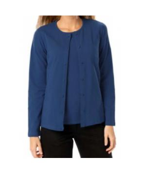 Blue Generation ladies long sleeve cardigan sweater - Navy