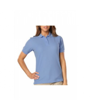 Blue Generation ladies wicking polo ight Blue