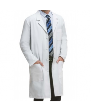 Cherokee 4 inch unisex lab coat with Certainty Plus - White