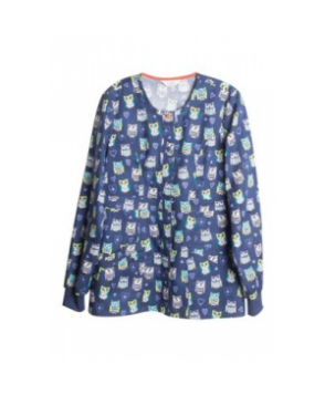 Code Happy Hoo Has Your Heart print scrub jacket with Certainty - Hoos Has Your Heart