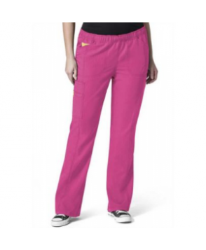 WonderWink Plus boot cut cargo scrub pant - Hot pink - PX