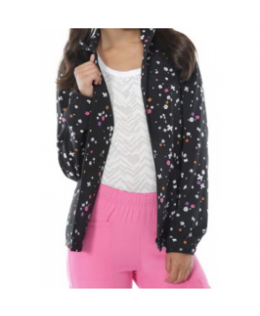 HeartSoul Twilight Flight print scrub jacket - Twilight Flight