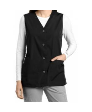 White Cross button down vest - Black