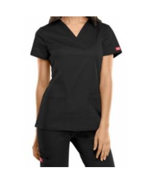 Dickies Gen Flex -pocket v-neck scrub top - Black