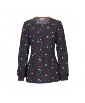 Code Happy Happy Lady print scrub jacket with Certainty - Happy Lady