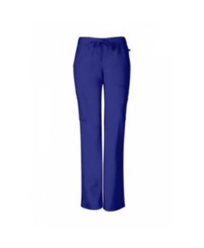 Sapphire elastic waist cargo scrub pant with Certainty apphire Blue