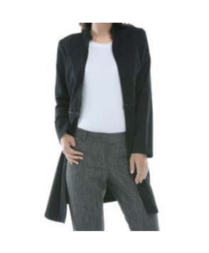 Cherokee Luxe convertible lab coat - Black