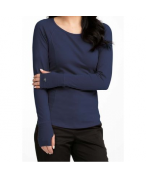 Med Couture Between The Lines long sleeve underscrub tee - Navy