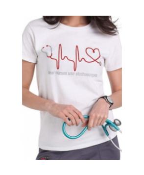 Scrubs & Beyond Nurses Appreciation short sleeve tee - White