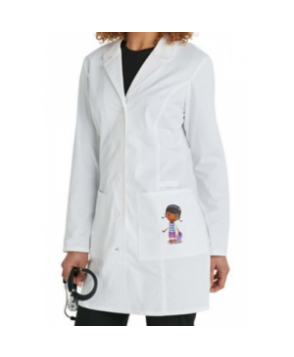Cherokee Tooniforms 33 inch Doc McStuffins pocket lab coat - White