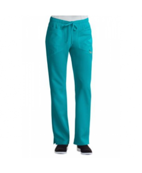Careisma by Sofia Vergara Charming elastic waistband scrub pants with Certainty - Aqua Rush