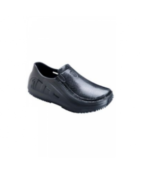 Mozo Sharkz ladies nursing clogs - Black Patent Croc -