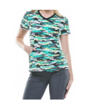 Infinity by Cherokee Camo Kind Of Love print top with Certainty - Camo Kind of Love