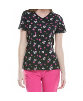 Infinity by Cherokee Flower The Leader print top with Certainty - Flower The Leader