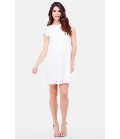 Ingrid & Isabel Lace Shift Maternity Dress