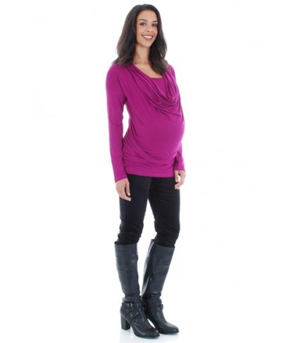 Everly Grey 'Kristina' Cowl Neck Maternity/nursing Top