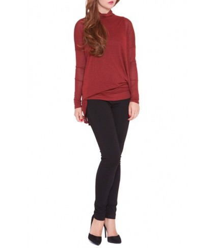 Olian 'Lisa' Asymmetrical Maternity Top, /Large - Red