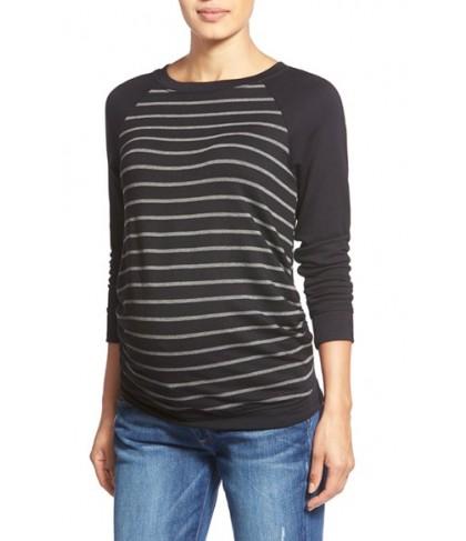 Tart Maternity 'Katrina' Striped Maternity Sweatshirt