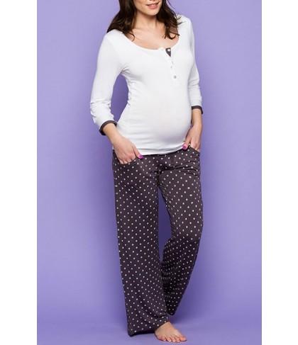 Amoralia Jersey Henley Maternity/nursing Top