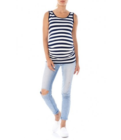 Imanimo Ruched Side Maternity Tank Top