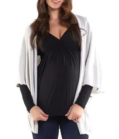 Tart Maternity 'Harlyn' Cotton & Cashmere Maternity Wrap Cardigan, /Small - Grey