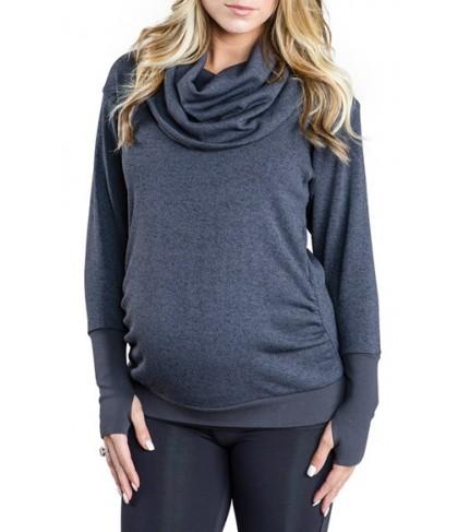 Cozy Orange 'Phoebe' Cowl Neck Maternity Sweater