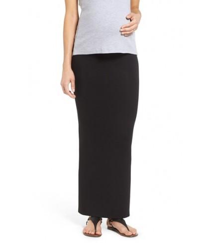 Nom Maternity 'Column' Maternity Maxi Skirt
