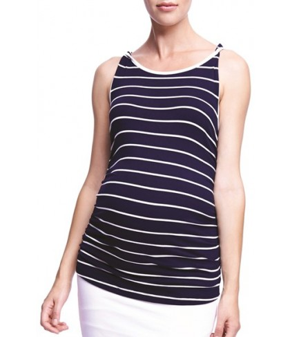 The Urban Ma 'Twist' Stripe Maternity Tank
