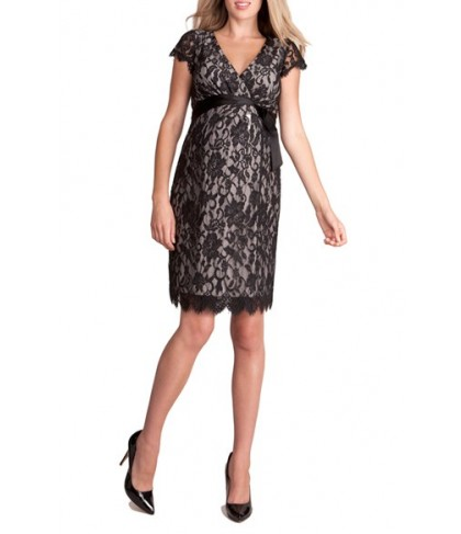 Seraphine 'Freya' Lace Wrap Maternity Dress