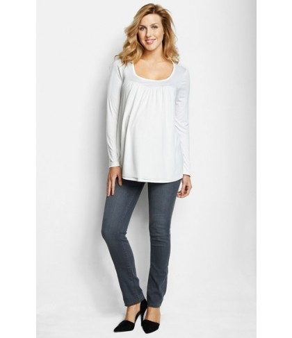 Maternal America Chiffon Knit Maternity Top